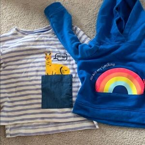 Two 12 months toddler tops